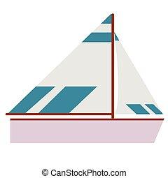 plat, bateau, illustration