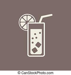 plat, boisson, icône