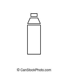 plat, bouteille, icône