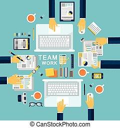 plat, concept, conception, illustration, collaboration