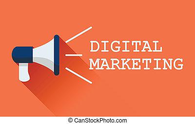 plat, concept, média, commercialisation, vecteur, social, porte voix, icône