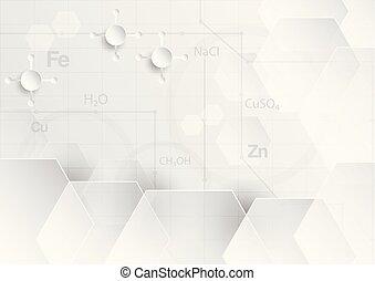 plat, concept, tonalité, résumé, gris, chimique, couper papier, fond, blanc, design.