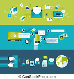plat, concepts, email, conception
