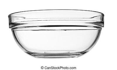 plat, cuvette verre, transparent