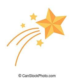 plat, décoration, style, noël, étoile, icône, tir