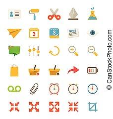 plat, divers, icônes