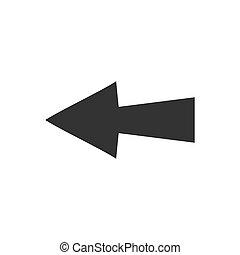 plat, icône flèche