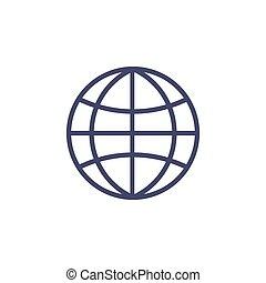 plat, icône, réseau