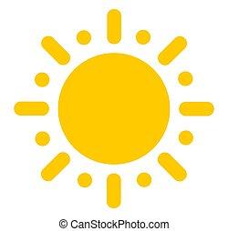 plat, icon., soleil