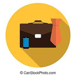plat, illustra, business, long, proces, vecteur, icône, ombre