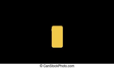 plat, iphone, icône