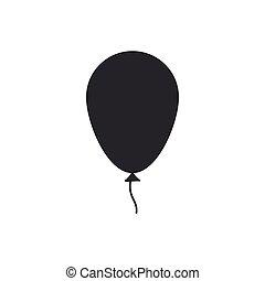 plat, isolated., balloon, illustration, vecteur, icône, ruban, design.