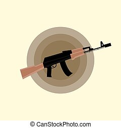 plat, kalashnikov, assaut, ak-47, fusil, icône