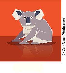 plat, koala, conception