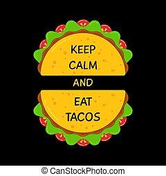 plat, motivation, signe, frais, tacos, bannière