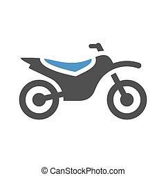 plat, moto, icône