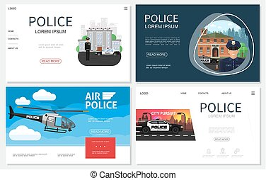 plat, police, sites web, collection