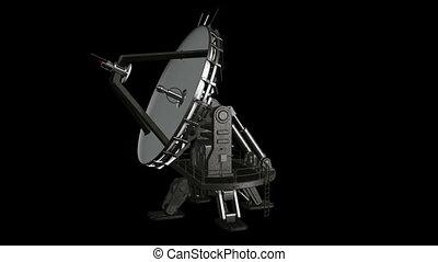 plat, satellite, animation, isoler, 1.