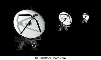 plat, satellite, animation, isoler, 3.
