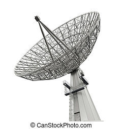 plat, satellite, antenne