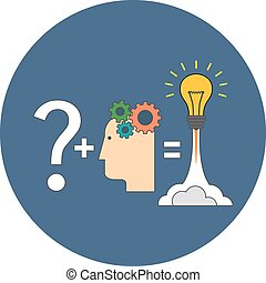 plat, solution, innovation, conclusion, concept., design.