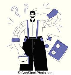 plat, style, concept, productivité, coloré, moderne, -, illustration, conception