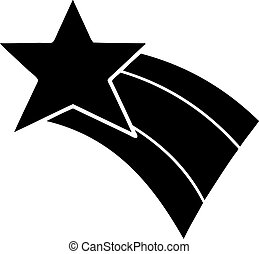 plat, symbole, étoile filante, arc-en-ciel
