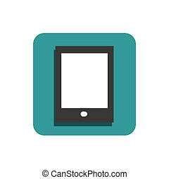 plat, tablette, icône