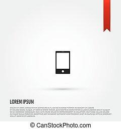 plat, templat, téléphone, conception, icon., style., intelligent