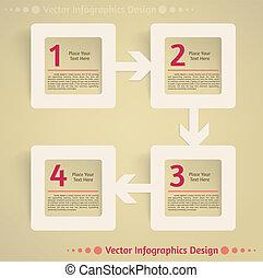plat, vecteur, conception, fond, infographics