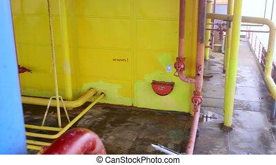 plate-forme pétrole, essence, équipement, production, mer