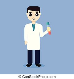 platelet-rich, plasma, tenue, éprouvette, docteur