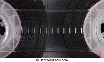 playing., extrême, cassette, vendange, audio, gros plan, compact, métrage