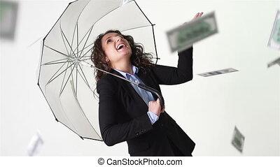 pleuvoir, il, argent