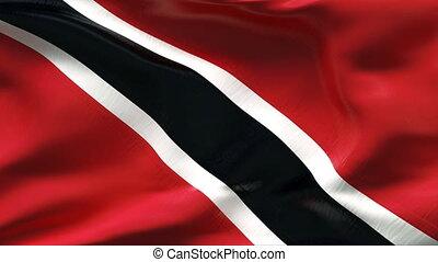 plissé, drapeau, vent, trinidad