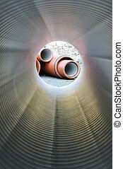plomberie, intérieur, tube