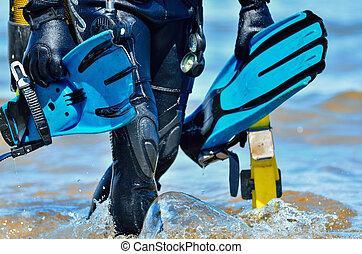 plongeur sous-marine