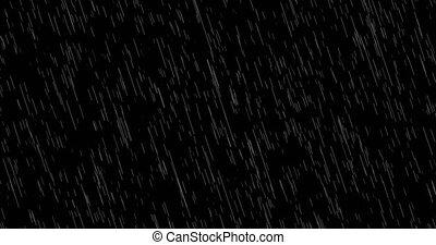 pluie chute, fond, boucle