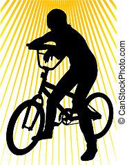 plus jeune, vélo, girl