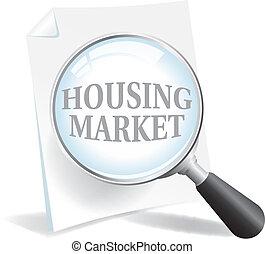 plus proche, prendre, logement, regard, marché