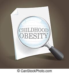plus proche, prendre, obésité, regard, enfance