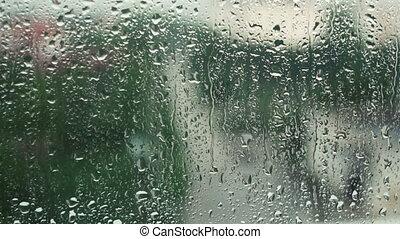 pluvieux, fenêtre