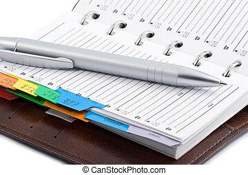poche, stylo, planificateur