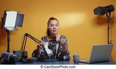 podcast, casque à écouteurs, vidéo, enregistrement, vr