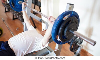 poids, exercisme, levage