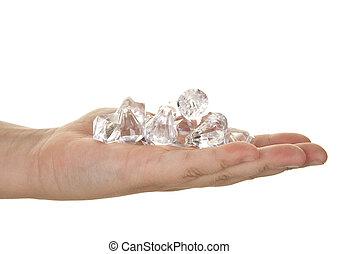 poignée, diamants