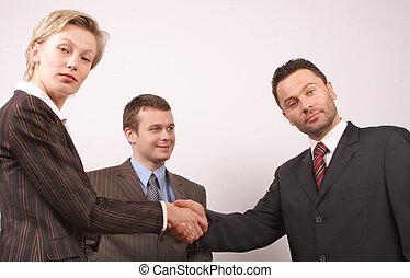 poignée main 2, business