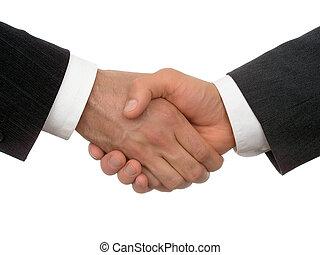 poignée main, business