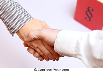poignée main, symbolique