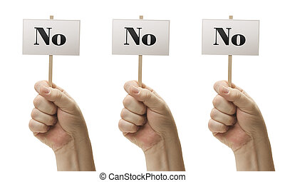 poings, proverbe, non, trois, non, signes